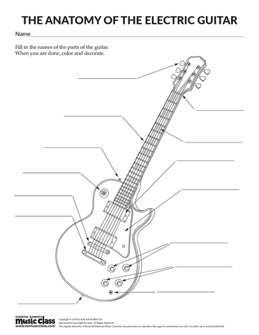 Anatomy of an Electric Guitar - Activity Page