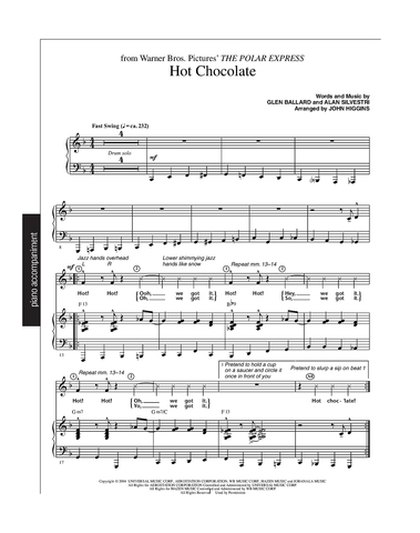 Hot Chocolate (from Polar Express) - Piano Accompaniment