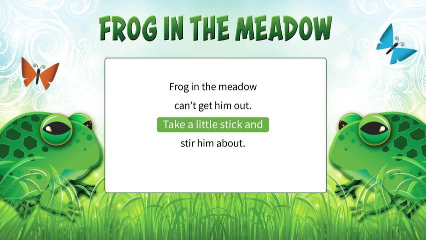Frog in the Meadow Lyric Video