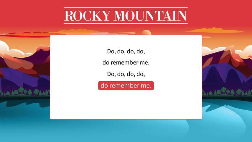 Rocky Mountain Lyric Video