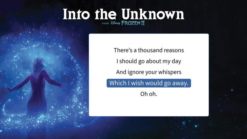 Into the Unknown Lyric Video - Level 2
